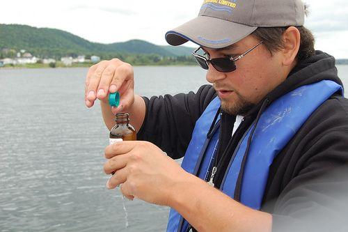 Collecting_water_sample_at_Eskasoni