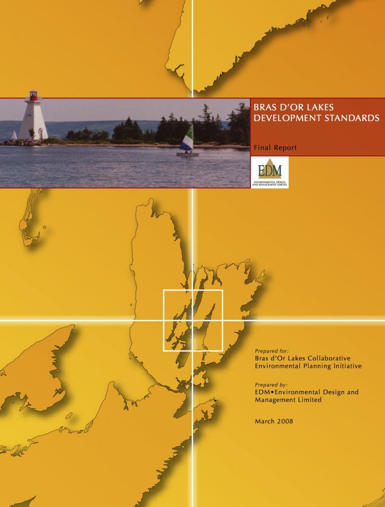 Bras d'Or Lakes Development Standards Report
